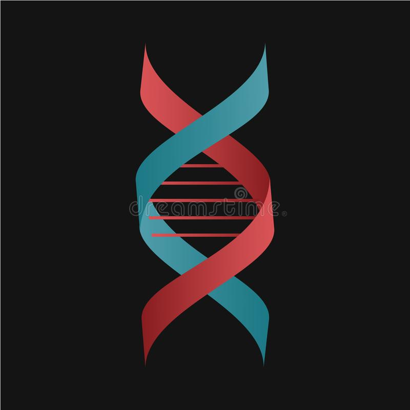 DNA-Helix-Symbol Konzeptsymbol für Biochemie und Nanotechnologie stock abbildung