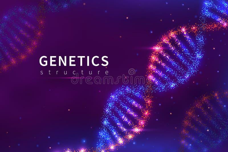 DNA-Hintergrund (Typ 05) E r lizenzfreie abbildung