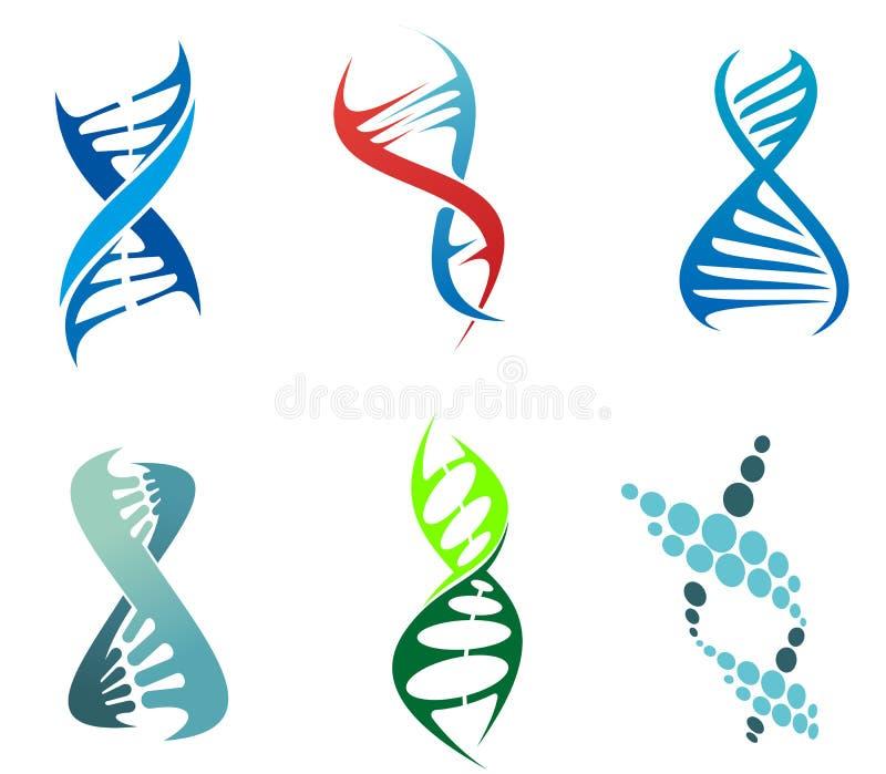 DNA i molekuły ilustracji