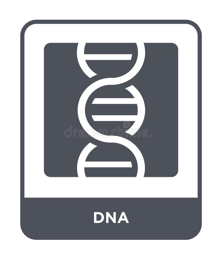 dna icon in trendy design style. dna icon isolated on white background. dna vector icon simple and modern flat symbol for web site vector illustration