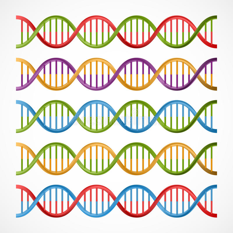 Dna Icons Symbols For Science And Medicine Stock Vector