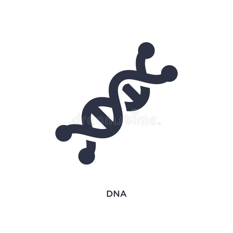 DNA-Ikone auf weißem Hintergrund Einfache Elementillustration vom Konzept der Ausbildung 2 vektor abbildung