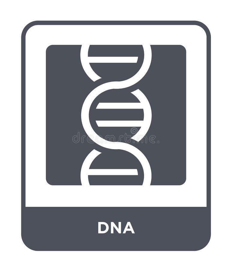 DNA-Ikone in der modischen Entwurfsart DNA-Ikone lokalisiert auf weißem Hintergrund einfaches und modernes flaches Symbol der DNA vektor abbildung