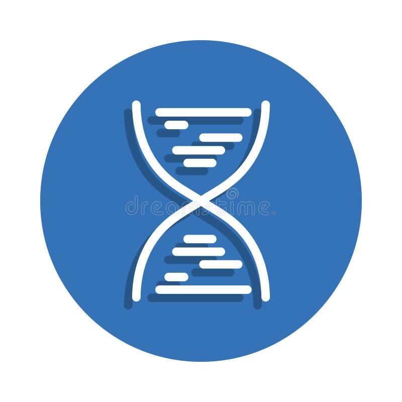 DNA-Ikone Element der Bildung für bewegliches Konzept und Netz apps Ikone Dünne Linie Ikone mit Schatten im Ausweis für Websitede stock abbildung