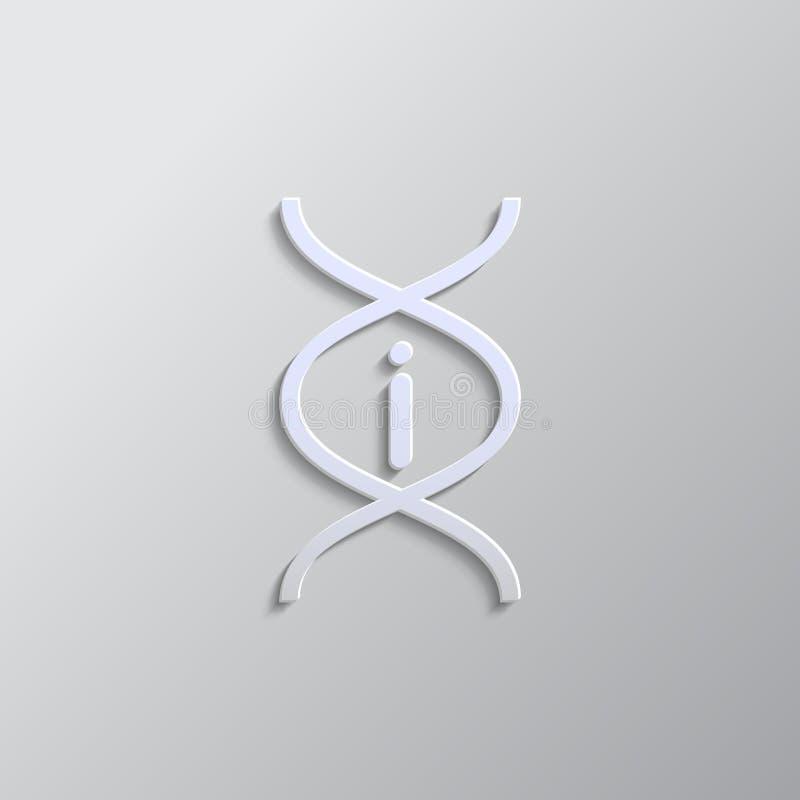 Dna, info, estilo de papel de ícone Fundo do vetor de cor cinzenta ilustração do vetor