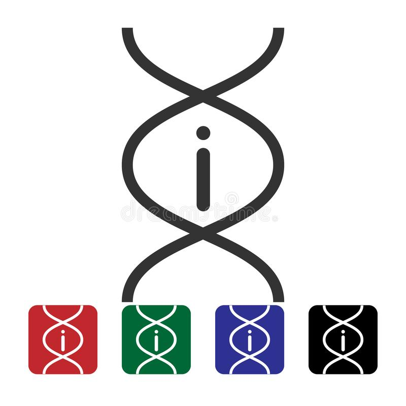 Dna, info  icon. Simple element illustration from biotechnology concept. Dna, info  icon. Bioengineering  vector illustration
