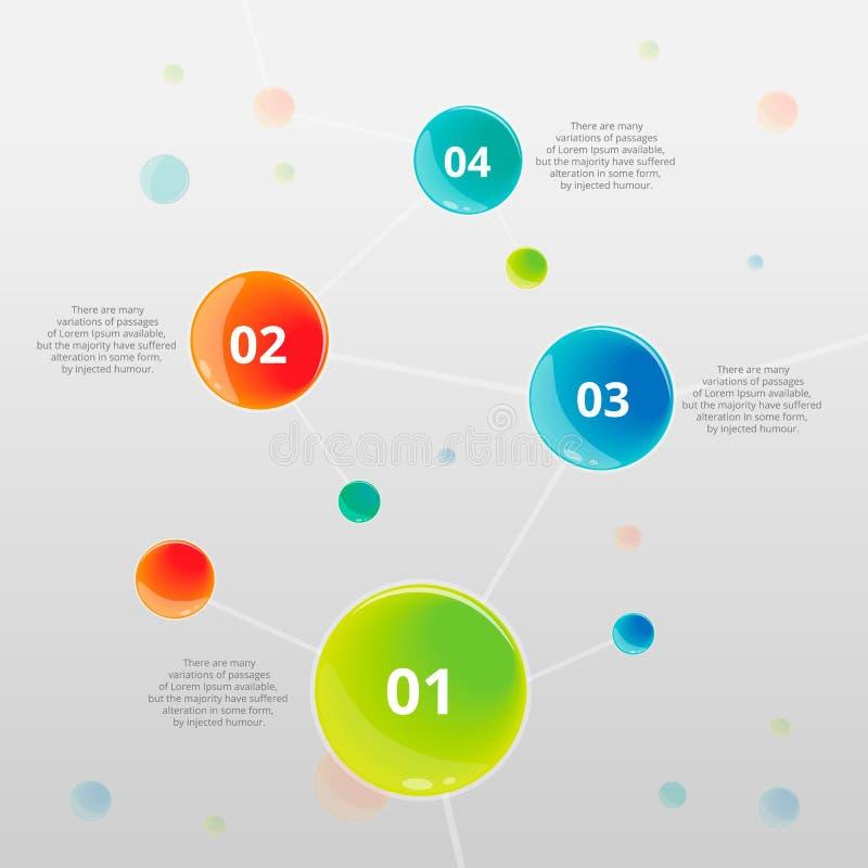 DNA infographic abstracta fotos de archivo
