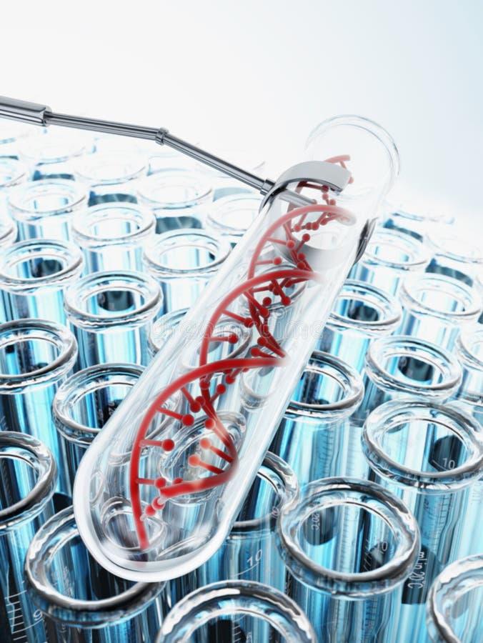 DNA Inside Próbna tubka ilustracji