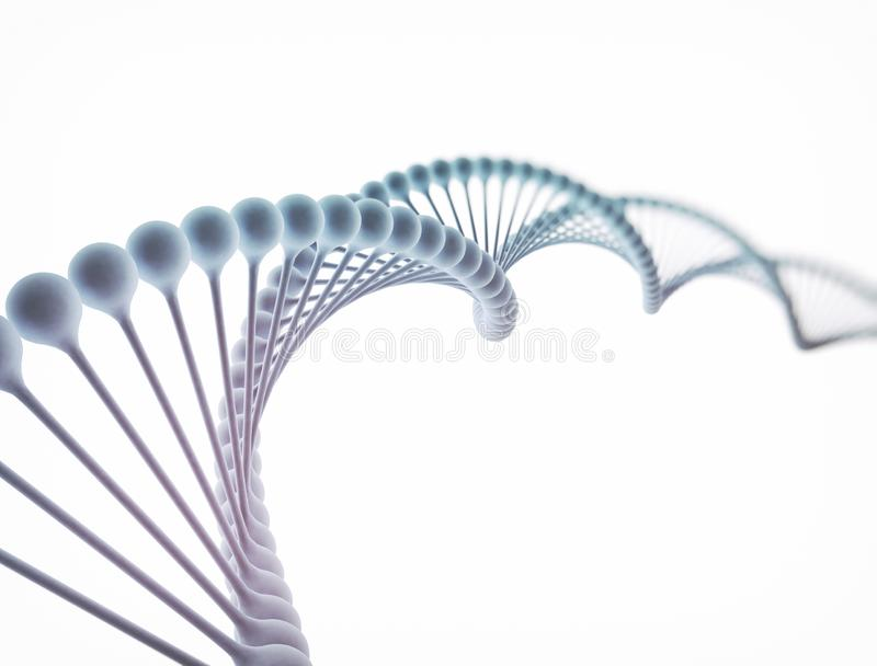 Dna double helix and cells on the background. stock photography