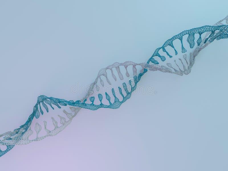 DNA-Kette Abstrakter wissenschaftlicher Hintergrund Wiedergabe 3d vektor abbildung