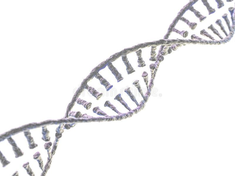 DNA-ketting Vat wetenschappelijke achtergrond samen het 3d teruggeven stock illustratie