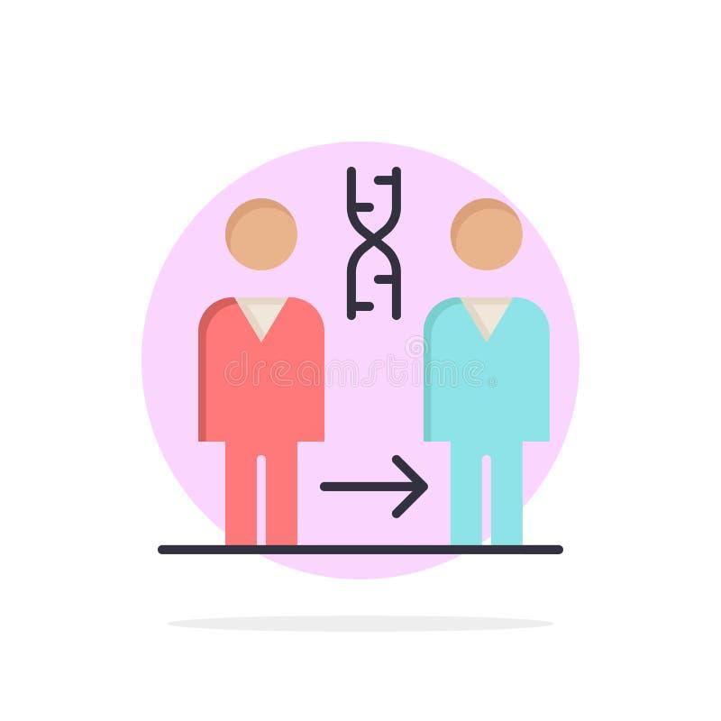 Dna kloning, patient, sjukhus, symbol för färg för vård- abstrakt cirkelbakgrund plan stock illustrationer