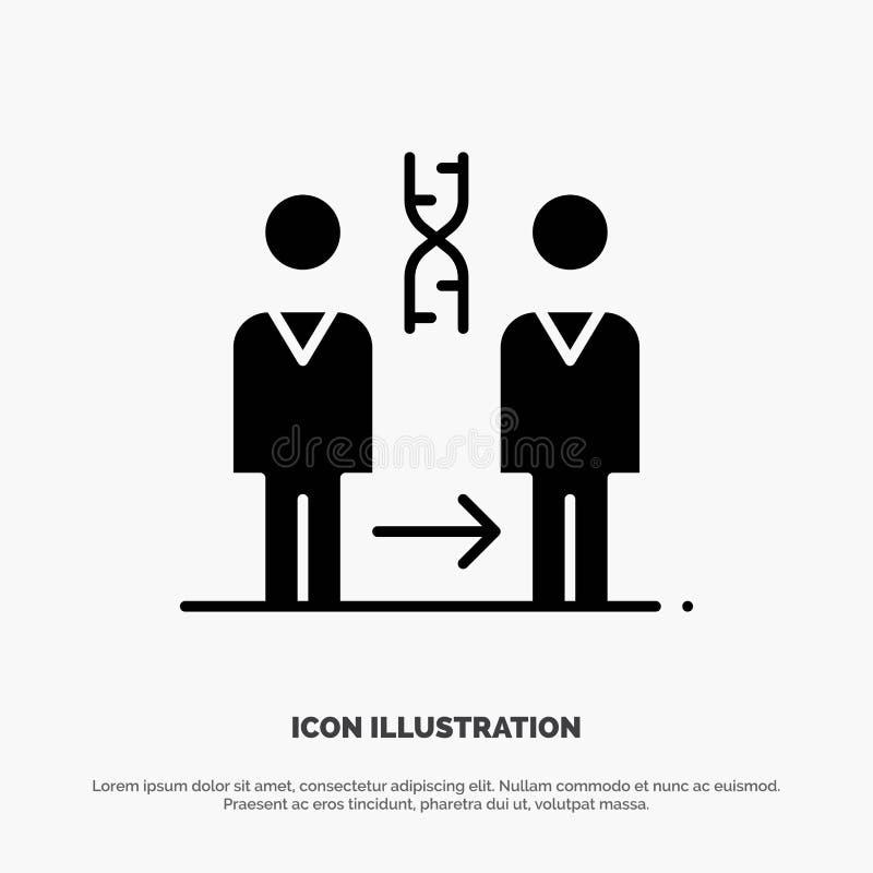 Dna kloning som är tålmodig, sjukhus, för skårasymbol för hälsa fast vektor vektor illustrationer