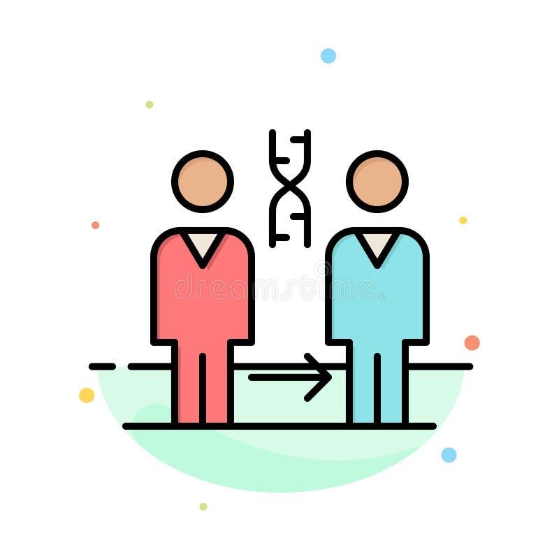 Dna kloning som är tålmodig, sjukhus, vård- abstrakt plan färgsymbolsmall stock illustrationer