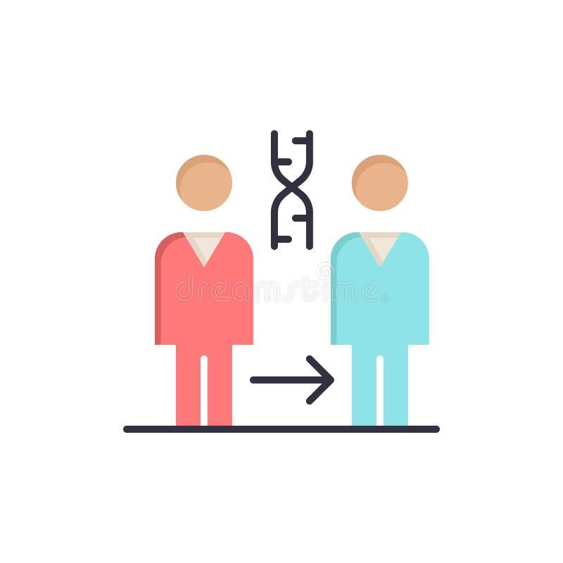 Dna kloning som är tålmodig, sjukhus, vård- plan färgsymbol Mall för vektorsymbolsbaner vektor illustrationer