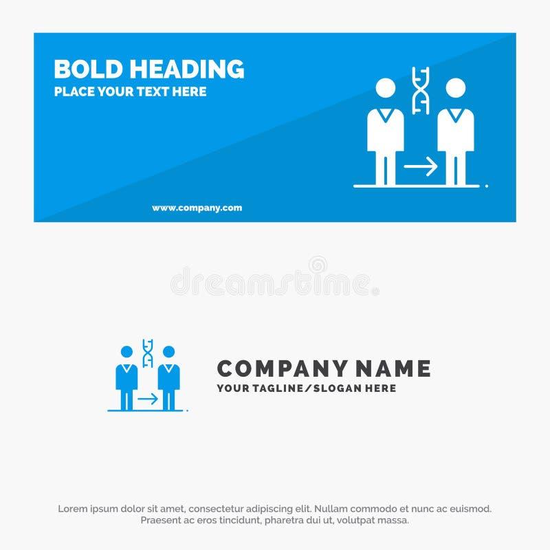 Dna, kloning, tålmodig, sjukhus, vård- fast symbolsWebsitebaner och affär Logo Template stock illustrationer
