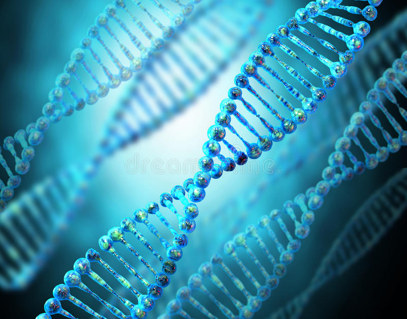 DNA-koord stock illustratie