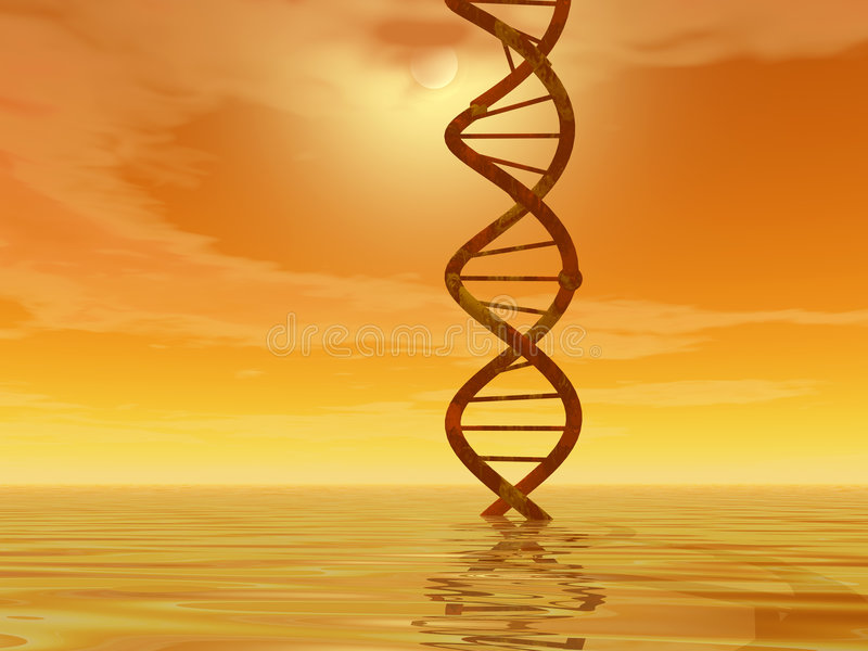 DNA landscape royalty free stock photo