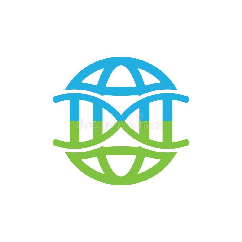 Dna loga ikony Światowy projekt royalty ilustracja