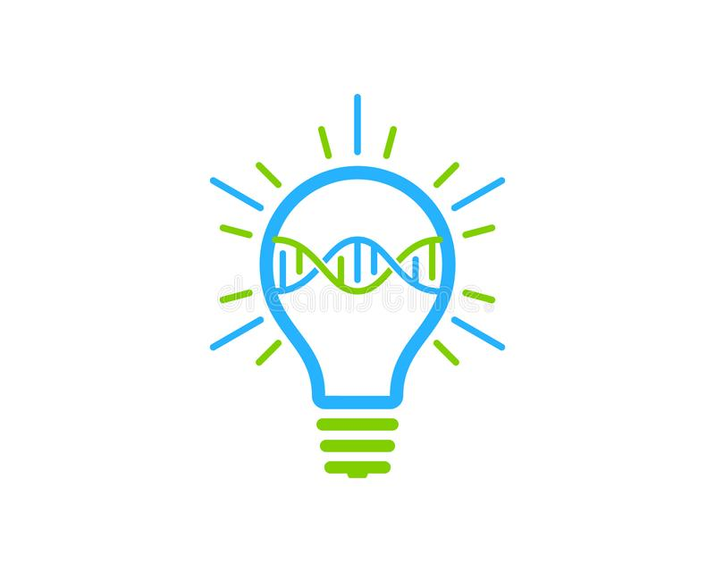 DNA Logo Icon Design di idea royalty illustrazione gratis