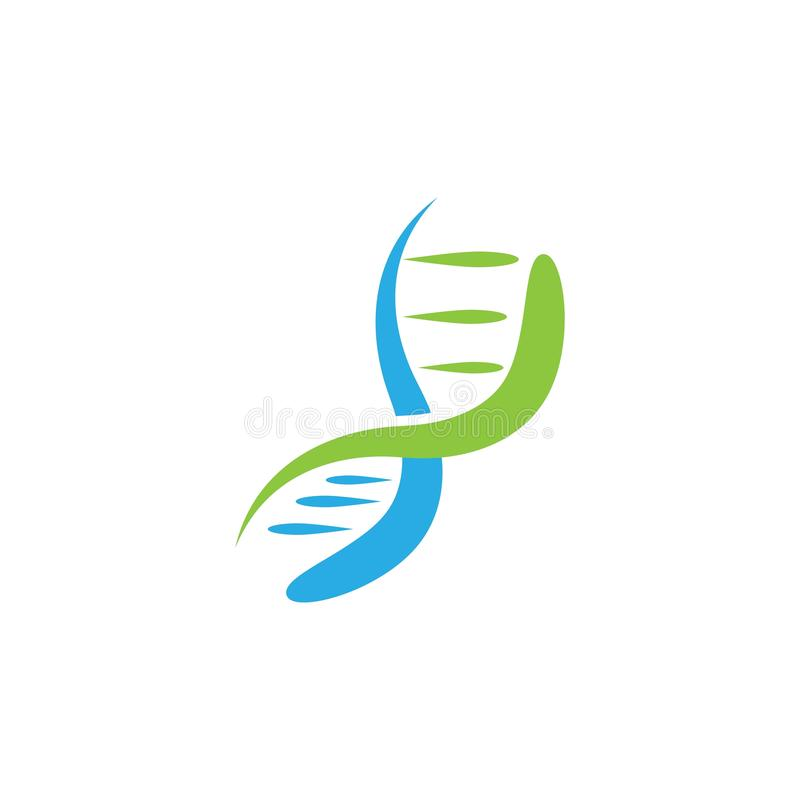 DNA logo vector. Template, helix, icon, gene, design, science, genetic, medical, medicine, technology, abstract, biology, health, molecule, illustration vector illustration