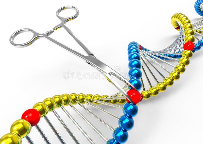 DNA Manipulation / Mutantion vector illustration