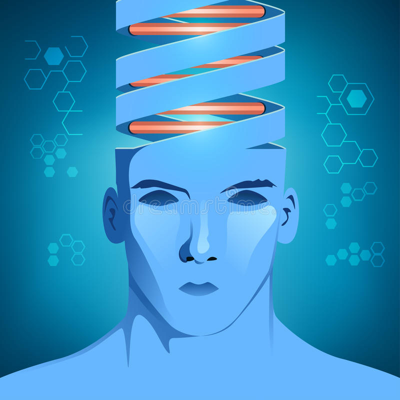 DNA-Mann lizenzfreie abbildung