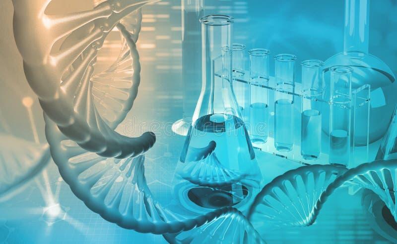 DNA microbiologia Laboratorio scientifico Studi sul genoma umano fotografie stock libere da diritti