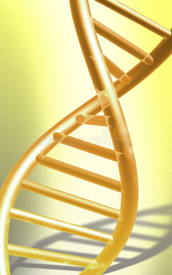 DNA model in yellow colour