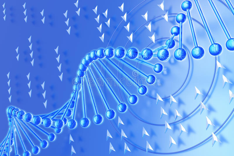 Download DNA Molecule On A Blue Background Royalty Free Stock Image - Image: 18203716