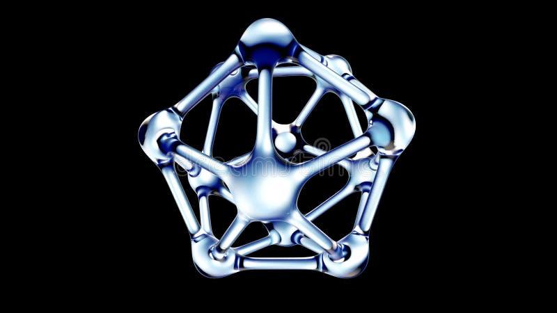 DNA molecule made of water 3d illustration royalty free illustration