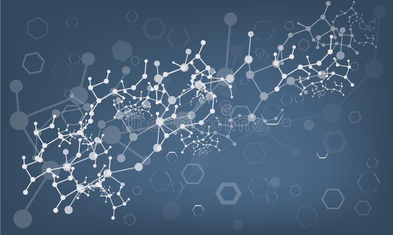 DNA molecule, medical abstract background. Vector vector illustration