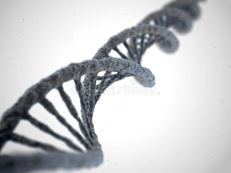 DNA-molecule op witte achtergrond stock illustratie