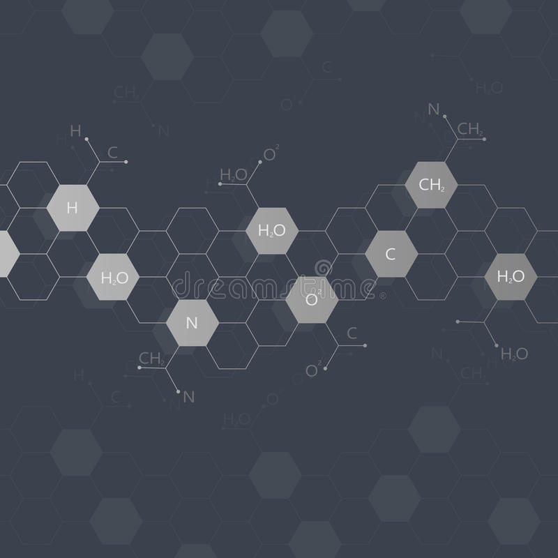DNA-molecule op zwarte achtergrond grafisch royalty-vrije illustratie