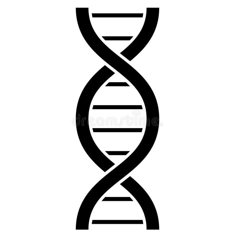 DNA-molecule vectorpictogram stock illustratie