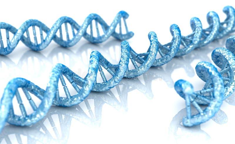 DNA-moleculeconcept biochemie op witte achtergrond, vector illustratie