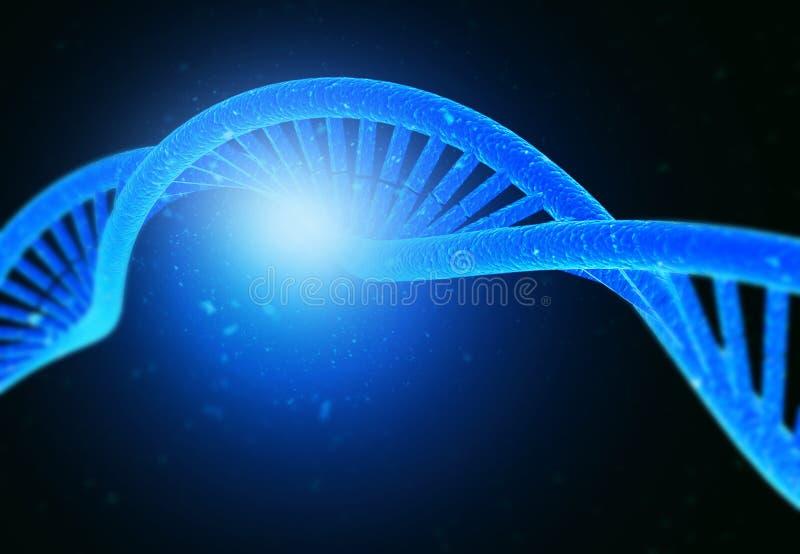 DNA-molecules royalty-vrije stock foto's