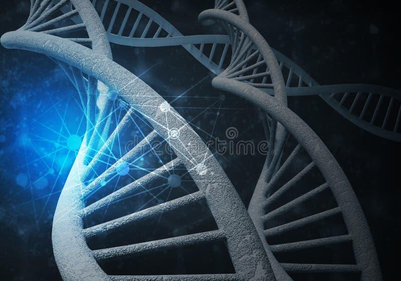 DNA molecules background royalty free stock photos