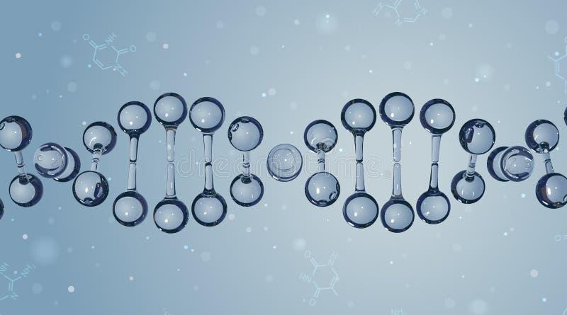 DNA-molecules Het kan voor prestaties van het ontwerpwerk noodzakelijk zijn stock illustratie