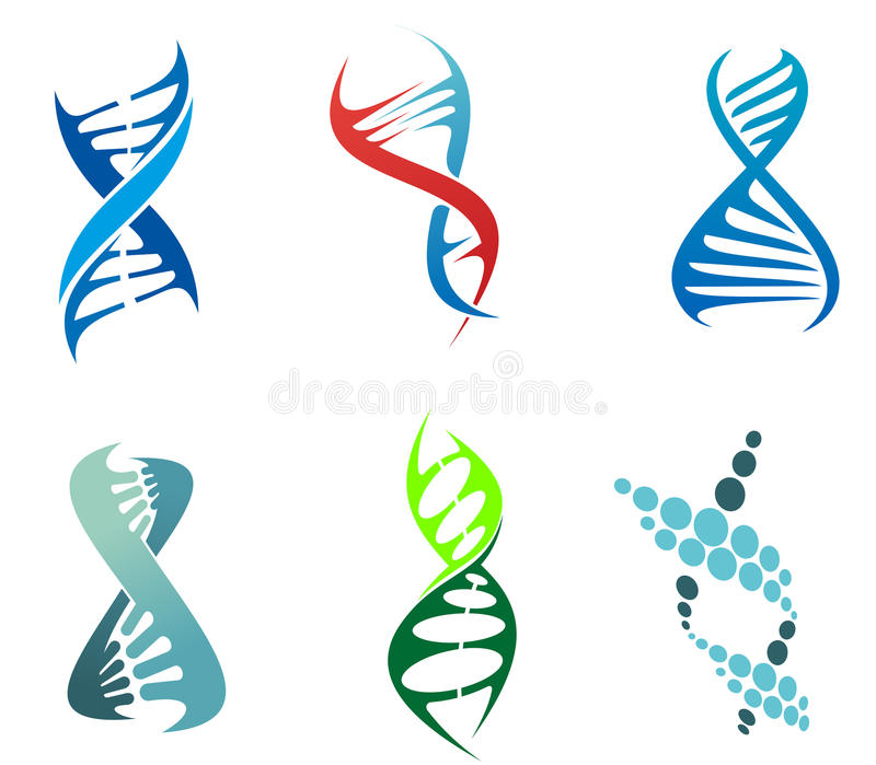DNA and molecules stock photo