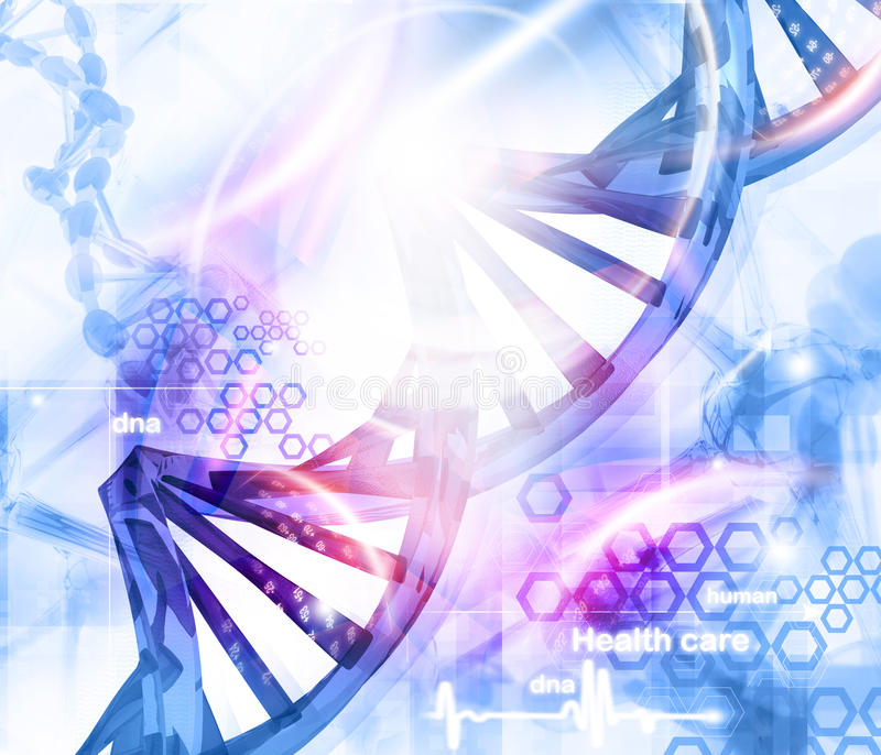DNA-moleculesachtergrond royalty-vrije illustratie