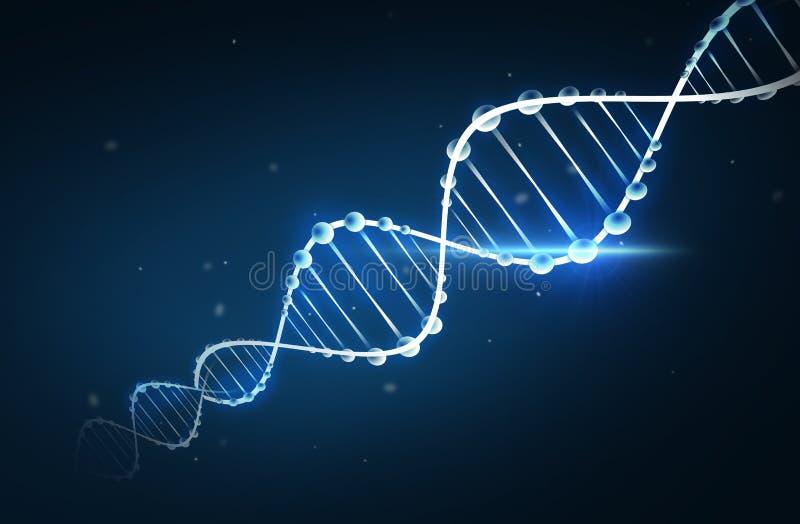 DNA-moleculestructuur vector illustratie