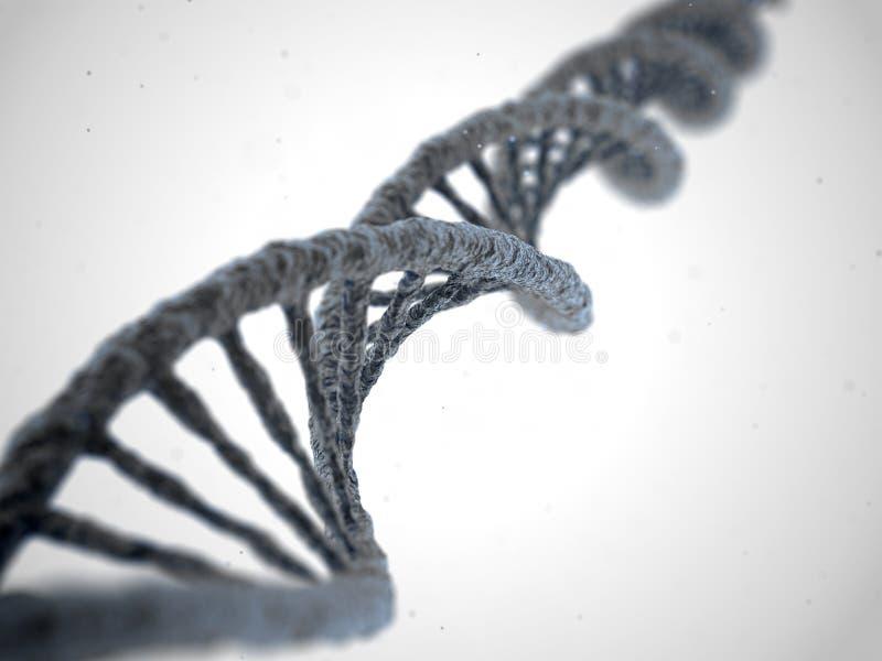 DNA-Molekül auf weißem Hintergrund stock abbildung