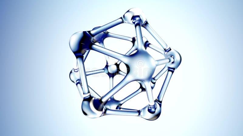 DNA-Molekül gemacht von der Illustration des Wassers 3d stock abbildung