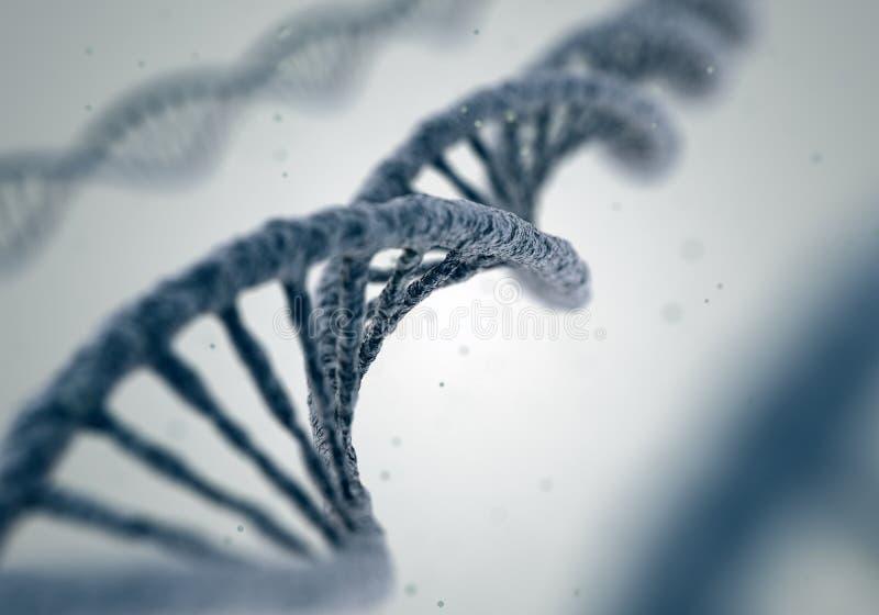 DNA-Moleküle auf weißem Hintergrund lizenzfreie abbildung