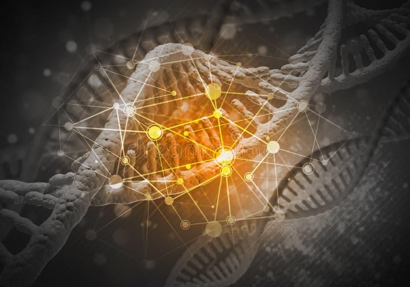 DNA-Molekülhintergrund lizenzfreie abbildung