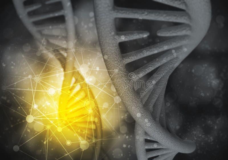 DNA-Molek?lhintergrund stock abbildung