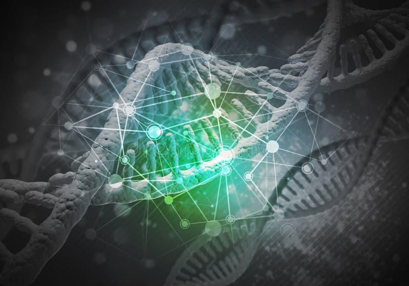 DNA molekuł tło obrazy stock