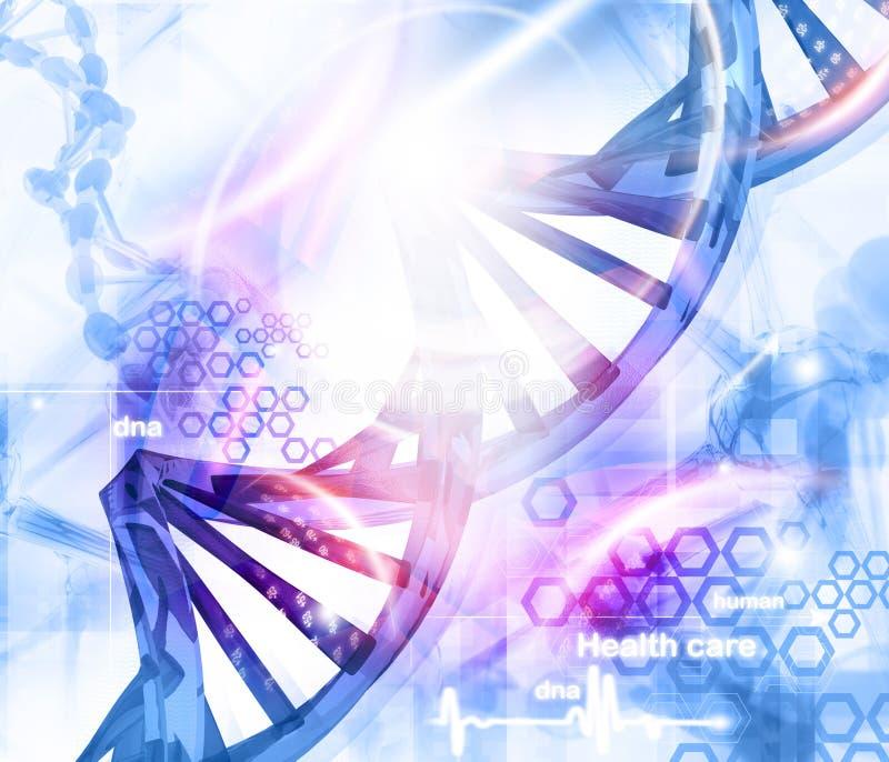 DNA molekuł tło royalty ilustracja