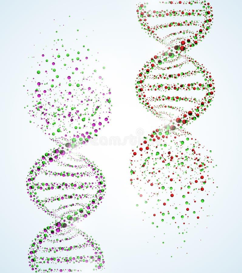 DNA molekuła ilustracja wektor